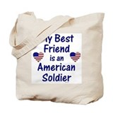 Best Friend/Soldier Canvas Tote Bag