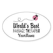 World's Best Massage Therapist Decal