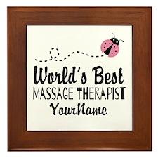 World's Best Massage Therapist Framed Tile
