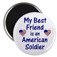 "Best Friend/Soldier 2.25"" Magnet (100 pack)"