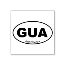 "Cute Guatemala Square Sticker 3"" x 3"""