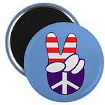 Patriotic Peace Hand Magnet (10 pack)