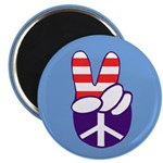 Patriotic Peace Hand Magnet