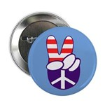Patriotic Peace Hand Button (100 pack)