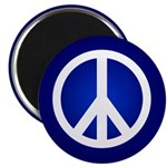Blue Peace Sign Magnet (10 pack)