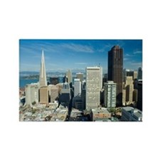 sunny downtown san francisco Rectangle Magnet