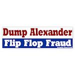 Rodney Alexander Flip Flop Bumpersticker