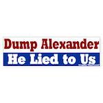 Dump Rodney Alexander Bumper Sticker