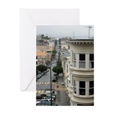 wet san francisco streets Greeting Card
