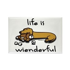 Life Is Wienderful Wiener Dog Rectangle Magnet