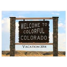 Customizable Colorful Colorado Sign Invitations