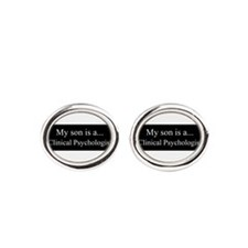 Son - Clinical Psychologist Oval Cufflinks