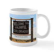 Customizable Colorful Colorado Sign Sou Mug