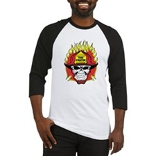 Firefighter Skull Baseball Jersey