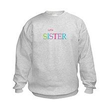 Little Sister Spring Colors Sweatshirt