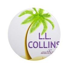 Author LL Collins Ornament (Round)