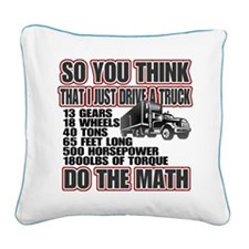 Tucker Math Square Canvas Pillow