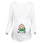 Green Awareness Ribbon baby Long Sleeve Maternity