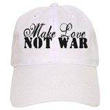 Make Love Not War Baseball Cap