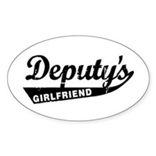 Vintage Deputys Girlfriend Oval Decal