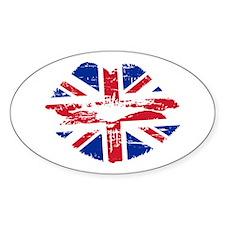 UK Flag Union Jack Lips Decal