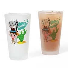 Cowboy and Horse Drinking Glass