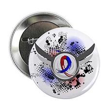 "CHD GrungeRibbonWings1 2.25"" Button"