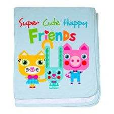 Super Cute Happy Friends baby blanket