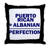 Albanian + Puerto Rican Throw Pillow