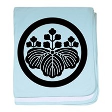 Paulownia with 5_3 blooms in circle baby blanket