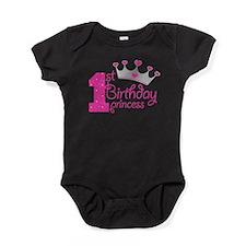 1st Birthday Princess Baby Bodysuit