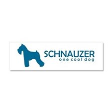 Cute Schnauzer mix Car Magnet 10 x 3