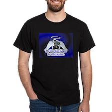 3-Guardian Angel -BlackShirt -Rottweiler T-Shirt