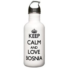 Keep Calm and Love Bos Water Bottle