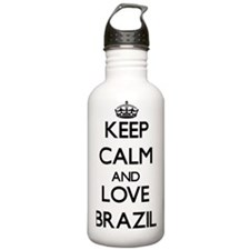 Keep Calm and Love Bra Water Bottle
