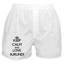 Keep Calm and Love Burundi Boxer Shorts