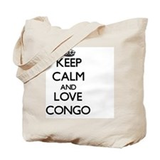 Keep Calm and Love Congo Tote Bag