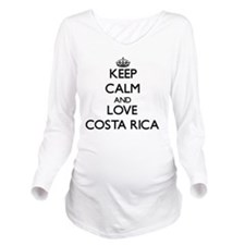 Keep Calm and Love c Long Sleeve Maternity T-Shirt