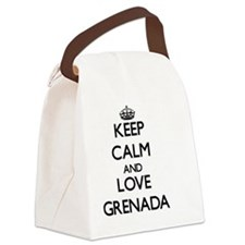 Keep Calm and Love Grenada Canvas Lunch Bag