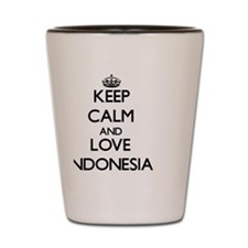 Keep Calm and Love Indonesia Shot Glass