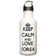 Keep Calm and Love Kor Water Bottle