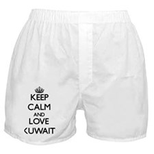 Keep Calm and Love Kuwait Boxer Shorts