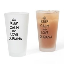 Keep Calm and Love Louisiana Drinking Glass