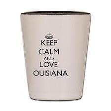 Keep Calm and Love Louisiana Shot Glass