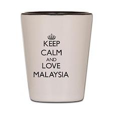 Keep Calm and Love Malaysia Shot Glass