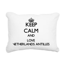 Keep Calm and Love Nethe Rectangular Canvas Pillow