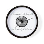 Whatever hits the Fan ... Wall Clock