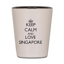 Keep Calm and Love Singapore Shot Glass