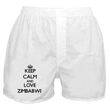 Keep Calm and Love Zimbabwe Boxer Shorts