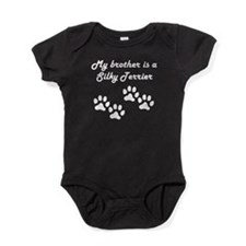 My Brother Is A Silky Terrier Baby Bodysuit